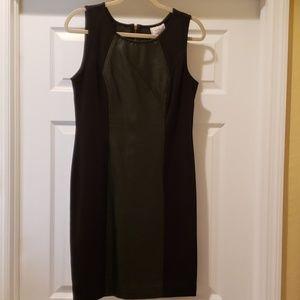 Knit/ Vegan Leather Dress SIZE 10